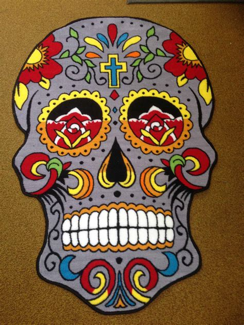 Sugar Skull Rug Rugs Design Rugs And Loop Style Rugs Designer Rugs