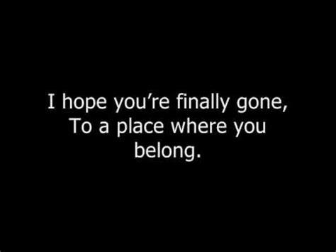 bullet for my a place where you belong lyrics bullet for my a place where you belong lyrics