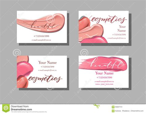 Item Card Template by Makeup Artist Business Card Vector Template With Makeup