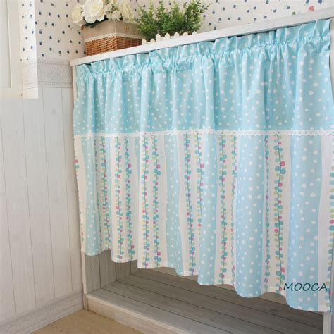 Blue Patchwork Curtains - aliexpress buy blue dot curtain patchwork semi