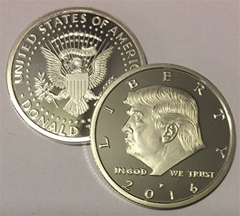 donald trump presidential picture president donald trump 2016 silver eagle novelty coin 30mm