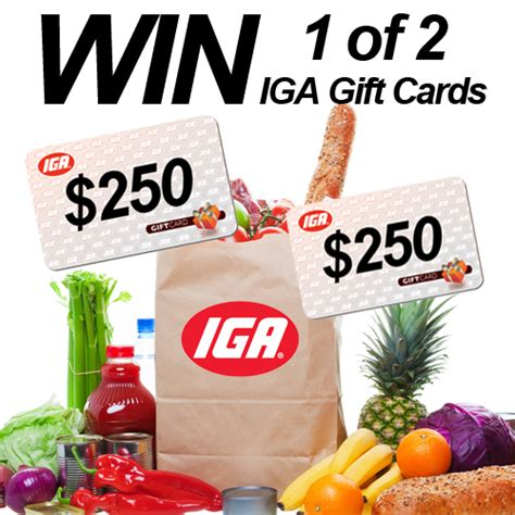 Grocery Gift Cards - win 1 of 2 250 iga grocery gift cards mum s lounge