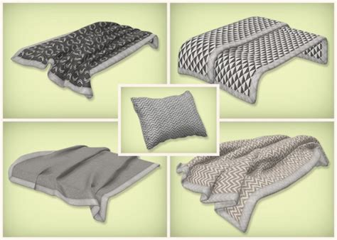 simsrocuted neutral beddings blankets  pillows sims  downloads