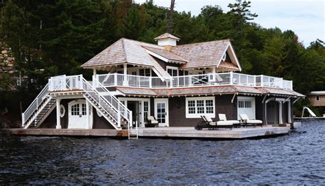 boat house builders a muskoka lake house and boat house for guests