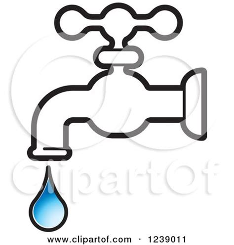 Leaky Bath Faucet Royalty Free Rf Faucet Clipart Illustrations Vector
