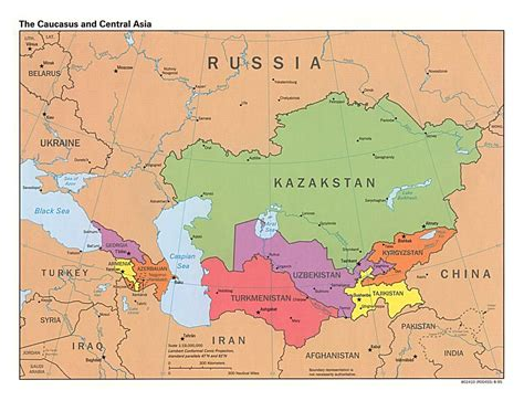 detailed map of asia large detailed political map of the caucasus and central