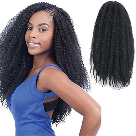 afro kinky fringe styles natural black 17 quot kanekalon afro kinky braids twist havana