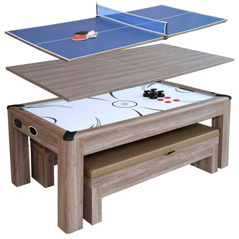 hathaway air hockey table hathaway driftwood 7 ft air hockey table combo set with