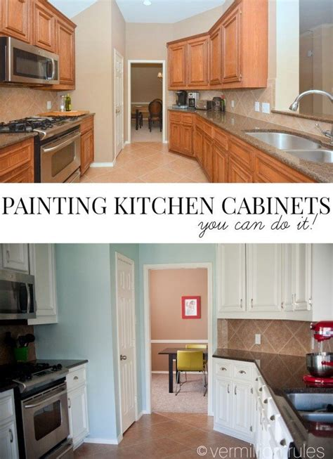 Paint Kitchen Cabinets Diy by A Diy Project Painting Your Kitchen Cabinets