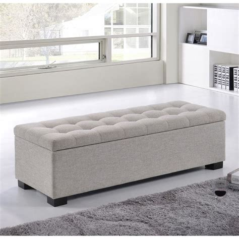 bed foot storage bench best 25 upholstered storage bench ideas on pinterest storage ottoman coffee table
