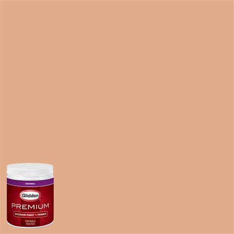 glidden premium 8 oz hdgo24u soft copper orange eggshell interior paint with primer tester