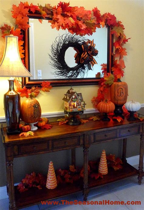 autumn foyer decorating ideas fall in the foyer 171 the seasonal home