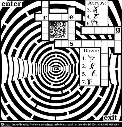 op art pattern xword maze op art