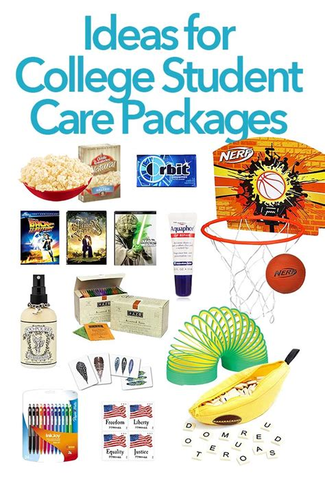 Themes For College Students | care package ideas for college students she wears many hats