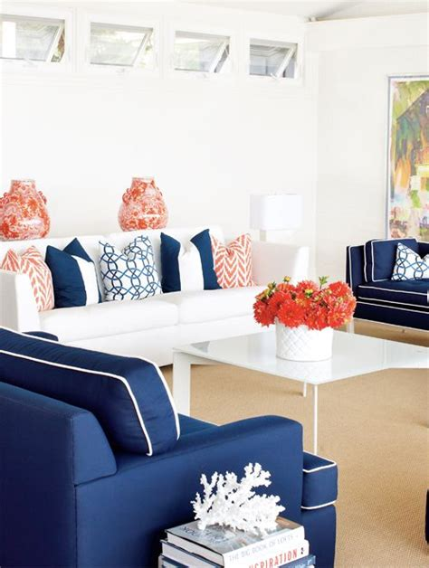 Living Room In Blue And Orange Trend Alert Navy Orange Blue Orange Living Rooms And