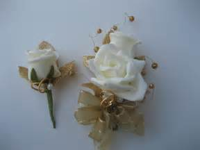 gold boutonniere 50th wedding anniversary corsage and boutonniere by