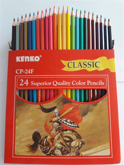 Pensil 24 Warna Kenko Panjang Atk Atk Alat Tulis Kantor Jual Pensil Warna 24 Colour Merk Kenko Atk Centre