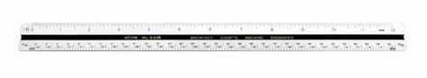 Alvin 240b Bamboo Architects Scale by Alvin 240b Architect S Scale Ruler 12 Quot Plastic With