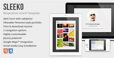 mycard responsive vcard resume html template sleeko responsive vcard theme