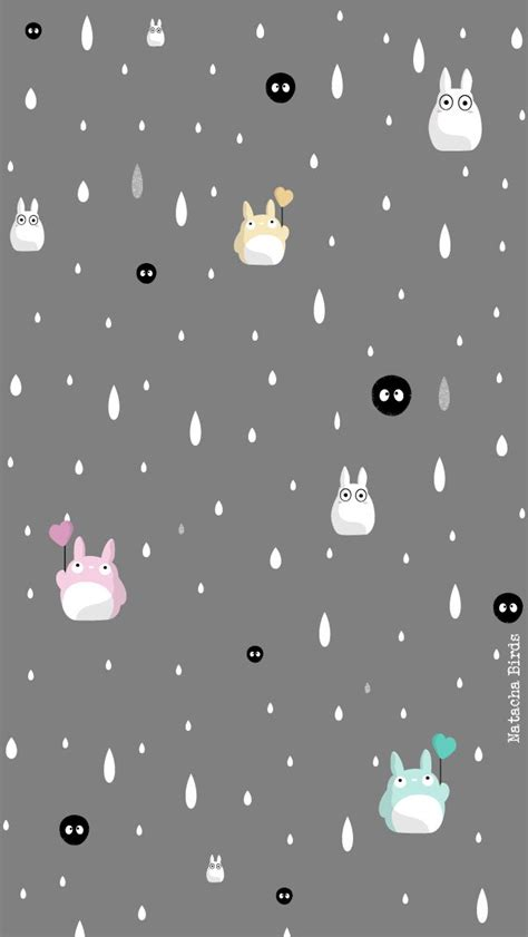 Studio Ghibli Iphone Semua Hp totoro ip5 accueil gris wallpaper iphone samsung grey and studio ghibli