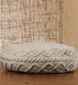 Cable Knit Ottoman Cable Knit Floor Pouf Contemporary Ottomans And Cubes By Gaiam