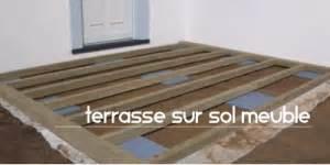 comment poser terrasse composite sur sol meuble la
