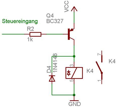 Transistor Tr Bc557 Bc 557 Pnp probleme mit ansteuerung eines relais 252 ber bc557