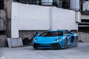 lamborghini aventador lp 700 4 by dmc in azure blue color