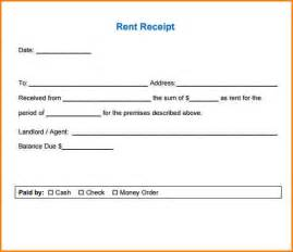 6 rent receipt format writable calendar