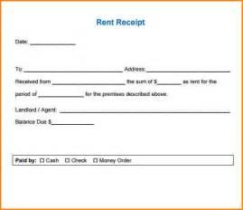 6 rent receipt format writable calendar