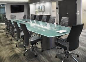 Glass Top Conference Table Custom Conference Table Elegantly Crafted For The Sheltair Conference Room Stoneline Designs