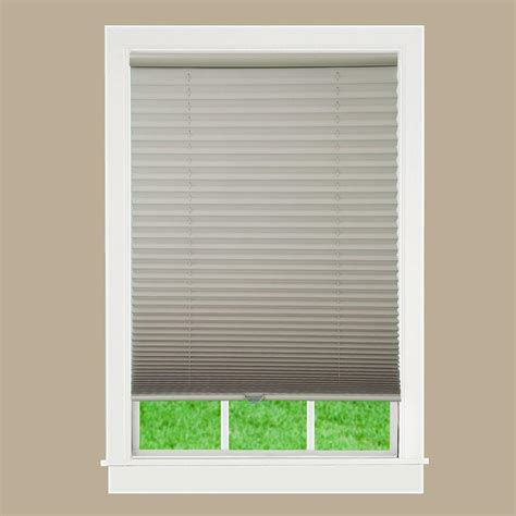 Pleated Shades For Windows Decor Lift Window Treatment Camel 1 In Light Filtering Cordless Pleated Shade 69 In W X 72