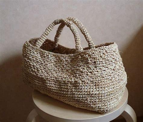 crochet jute bag pattern raffia or jute crochet ravelry emiko kamata make
