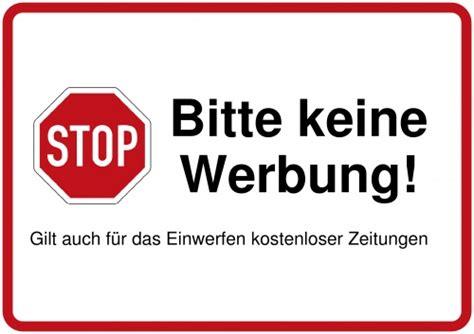 Bitte Keine Werbung Aufkleber Vorlage by Schilder Selbst Gestalten Und Drucken