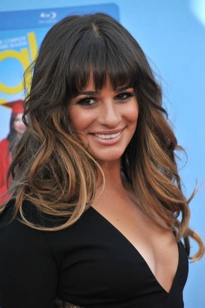 which hair colour does lea michele wear for loreal lea michele hair beauty celebrity ombre bangs it s
