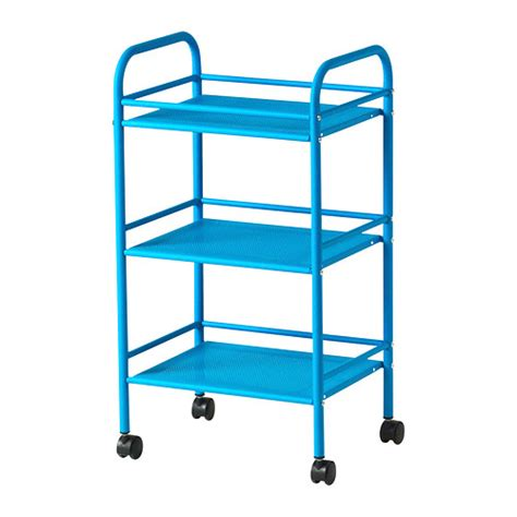 ikea rolling cart draggan cart blue ikea
