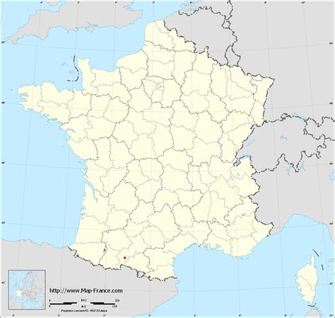 ROAD MAP MONTESPAN : maps of Montespan 31260