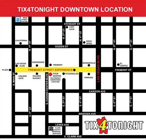 map of downtown las vegas las vegas downtown map tix4tonight half price ticket booth