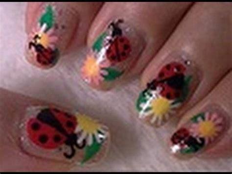 cute easy lady bug nail art youtube lady bug nail art tutorial arte para las unas de