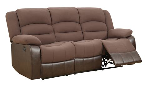 global furniture river sofa u98243 chocolate pu reclining sofa by global furniture