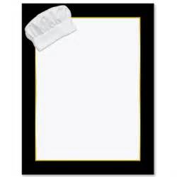 chef s hat border papers paperdirect