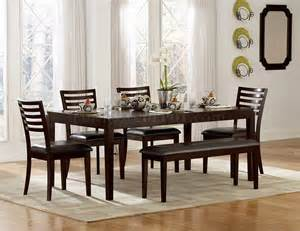 Dining Room Table Bench Chairs Espresso Finish Modern Dining Table W Optional Chairs Bench