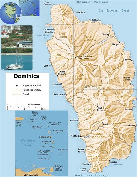 dominica on a map map of dominica portsmouth