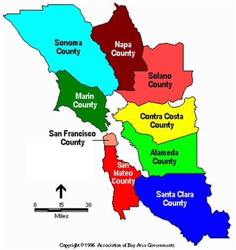 san francisco region map san francisco maps of municipal railway bays areas