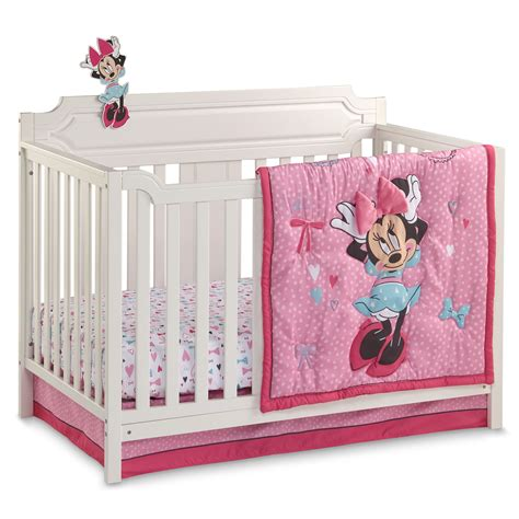 minnie mouse crib bedding set disney minnie mouse crib bedding set