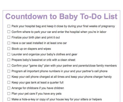 printable pregnancy to do list third trimester to do list countdown to baby printable