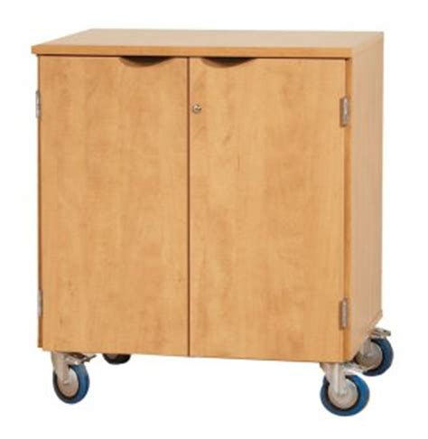 mobile storage cabinet with doors and 1 shelf lms 350d