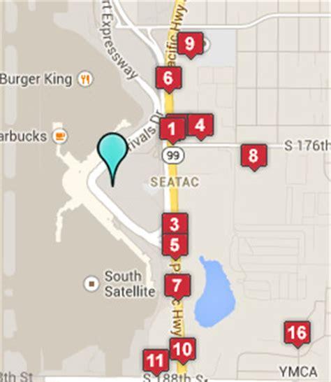 seattle map of hotels hotels near seattle airport seattle wa