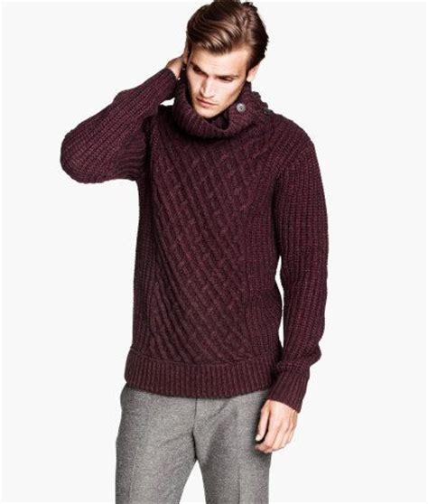 Sweater Knit Hoodie Fingerless Maroon Jaket Polos Casual Premium h m s winter burgundy turtleneck zara and h m