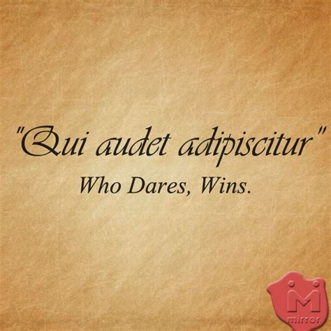 tattoo quotes about love in latin qui audet adipiscitur latin who dares wins a couple